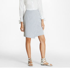 Brooks Brothers Cotton Seersucker Wrap Skirt